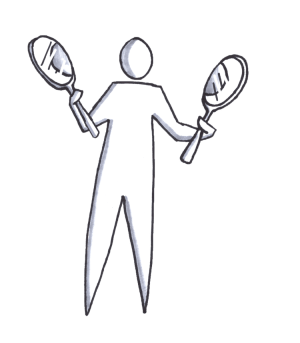 A man holding two rackets