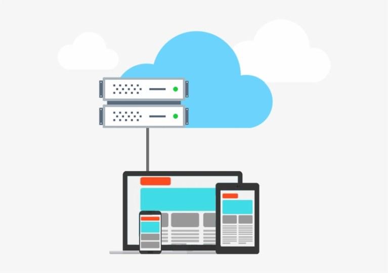 Cloud Server Illustrazione