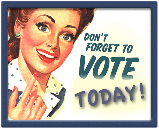 VOTE TODAY retro