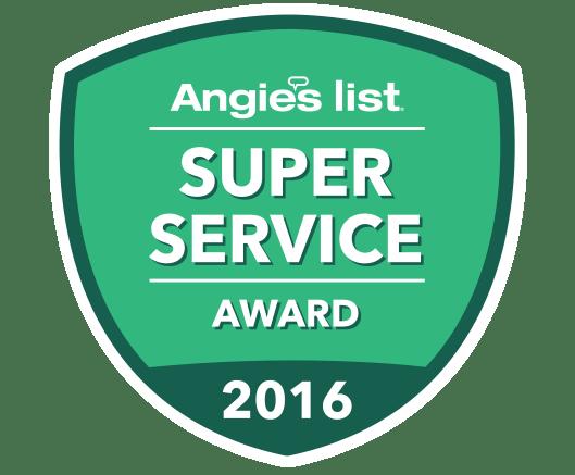 Angie's List, Super Service Award 2016 Recipient