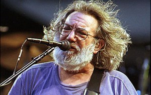 FILE--Grateful Dead's singer Jerry Garcia is shown performing in this June 30, 1995, file photo in Pittsburgh. A lawsuit over five of Garcia's prized guitars, bequeathed to Doug Irwin who built the instruments for Garcia, will be allowed to proceed, a Marin County Superior Court judge said in a tentative ruling Wednesday, June 20, 2001 in San Rafael, Calif.   (AP Photo/The Register-Herald, Chris Hancock, file)