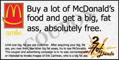 Love your body. Avoid Mickey D's.