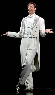 Hugh Jackman as Peter Allen in the finale of 'The Boy from Oz,' photo from opening-night performance