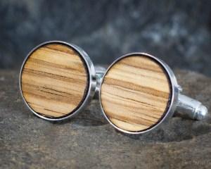 Zebra Wood Cufflinks
