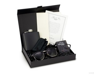 Groomsmen Gift Box for Men Black Gift Box
