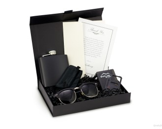 Groomsmen Gift Box for Men Black