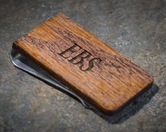 Personalized Wood Money Clip