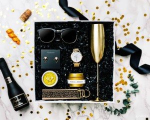 pop fizz clink gift box bridesmaid proposal bachelorette party gifts for her champagne gold black marble 2