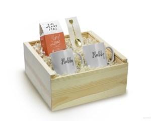 Queer Newlywed Gift Box Set Big Heart Tea Mug Mr Hubby Gay Friendly Engagement Gift