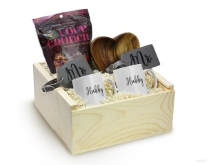 Queer Newlywed Gift Box Set Heart Bowl Coffee Mug Mr Hubby Gay Friendly Engagement Gift