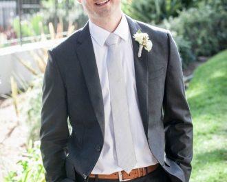 solid silver silk tie groomsmen wedding tie