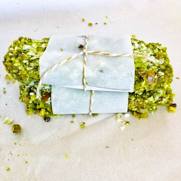 These vegan Coconut Matcha Energy Bars are a great healthy snack for days when you need long-lasting energy. Created by The Grateful Grazer.