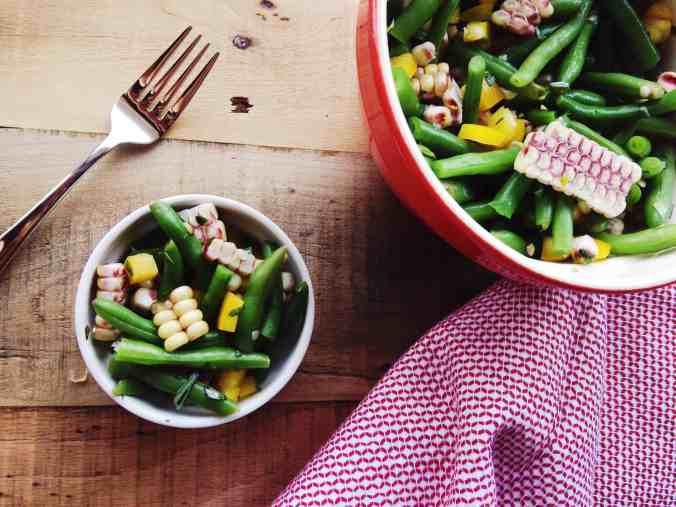 Green Bean and Corn Salad via The Cutting Board   Summer Produce Guide   The Grateful Grazer