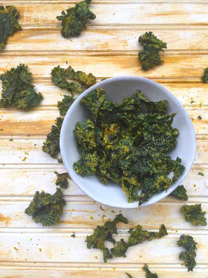 Curried Kale Chips (+ Dehydrators!) | The Grateful Grazer | www.gratefulgrazer.com | #vegan #glutenfree #paleo #kalechips