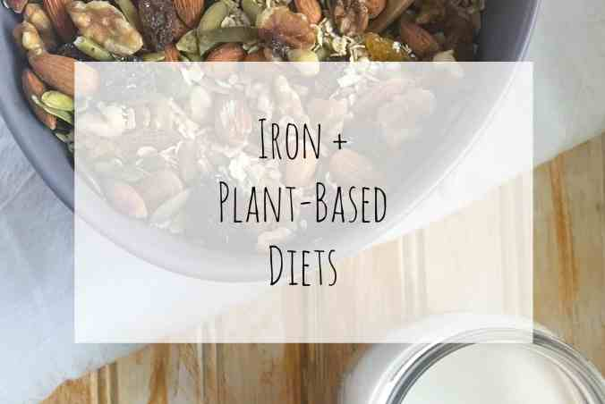 Iron + Plant-Based Diets - learn about what iron does in the body and plant-based food sources from Steph McKercher, nutritionist at The Grateful Grazer.