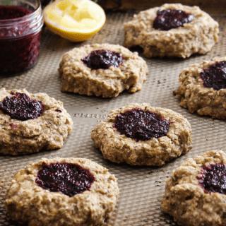 Whole Grain Thumbprint Cookies