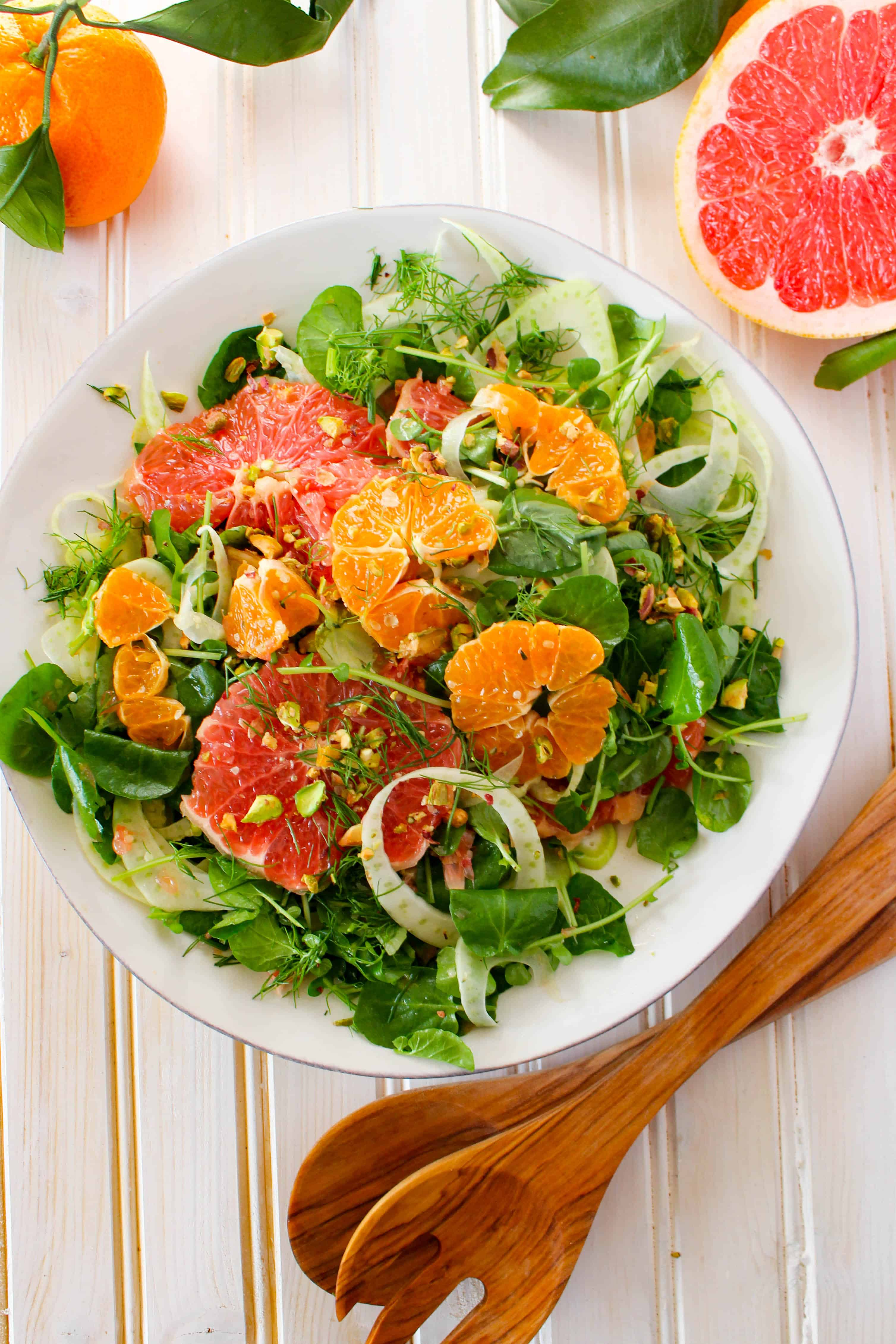 winter citrus salad with watercress fennel pistachios the