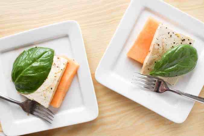 Cantaloupe Melon Brunch Salad (vegan) from The Grateful Grazer.