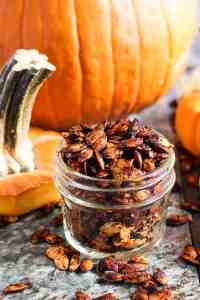 Paprika Lime Roasted Pumpkin Seeds