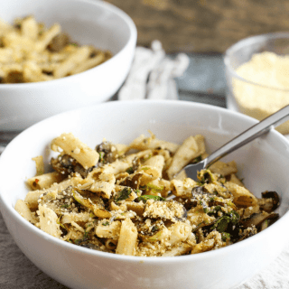 This healthy, delicious, easy brussels sprout pasta recipe from Alex Caspero's Fresh Italian Cooking proves you can stay slim while eating pasta. Vegan!