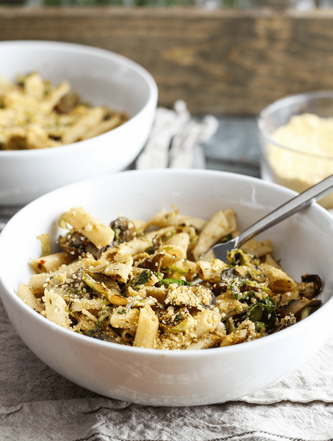 Easy Brussels Sprouts Penne from Fresh Italian Cooking for the New Generation