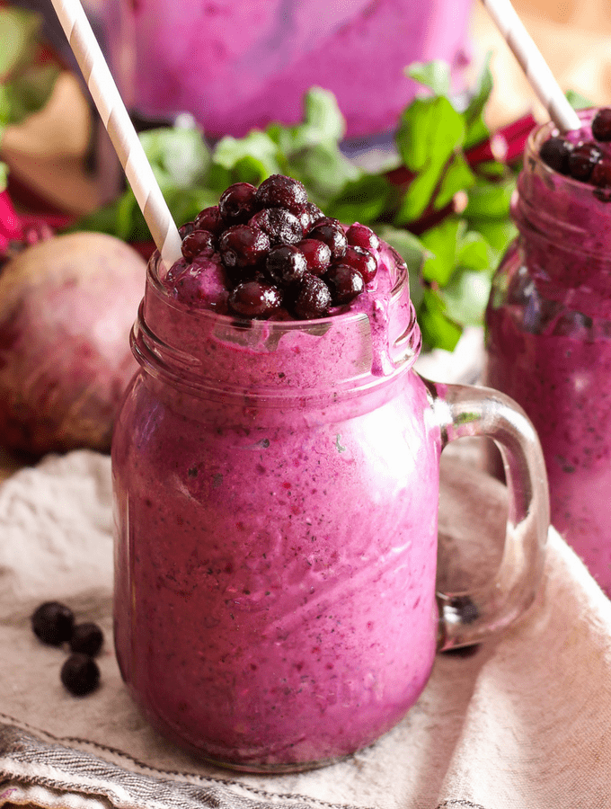 Wild Blueberry Beet Smoothie
