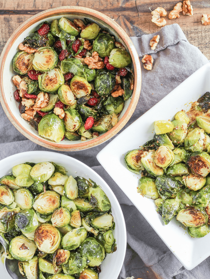 How to Make Roasted Brussels Sprouts Three Ways