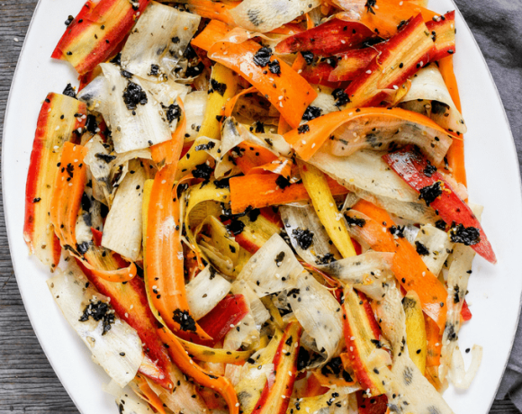 How to Make Shaved Rainbow Carrot Seaweed Salad