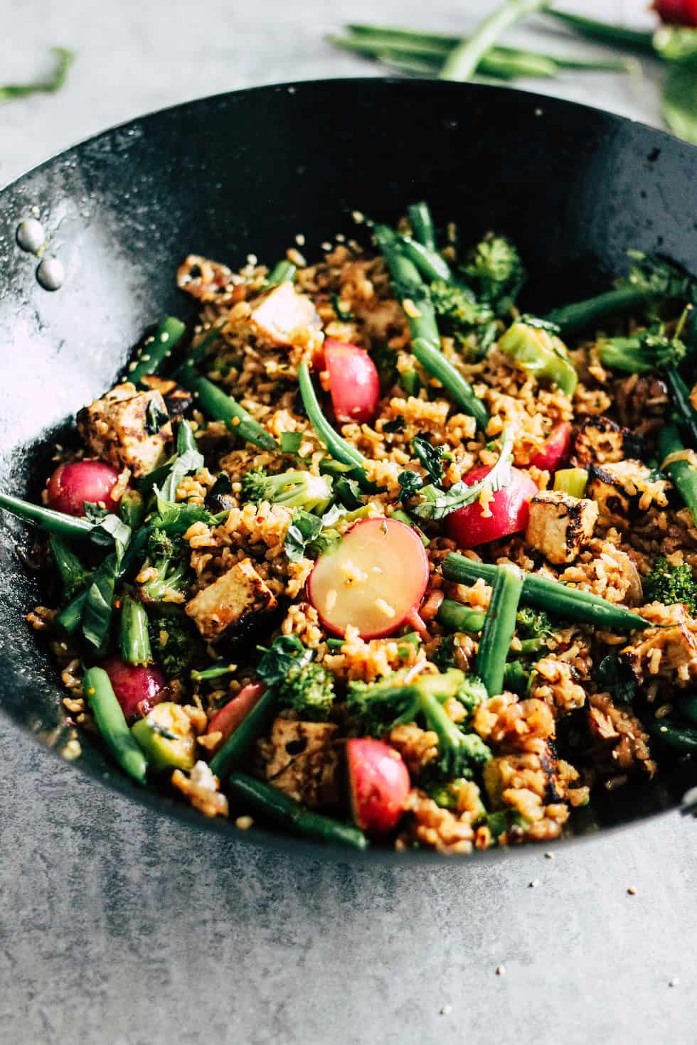 How to make easy college meals like vegetable fried rice.