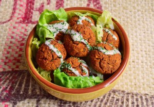 Baked Sweet Potato Falafels