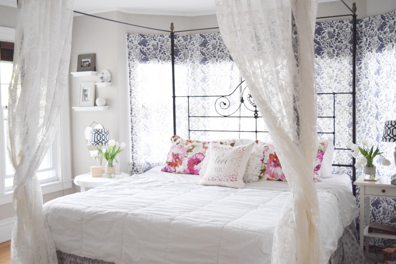 May Flowers Home And Garden Tour Master Bedroom Gratefully Vintage