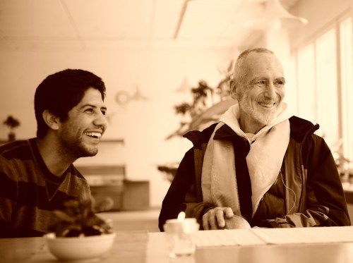 Anthony Chavez and Br. David Steindl-Rast