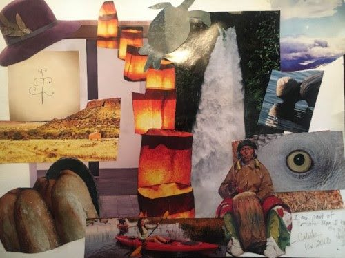 Colette Lafia's creation collage
