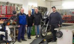 Unser Team für die Werkstatt und den Verkauf von Teilen, Inspektionskits und individuellen Wünschen, auch über unseren eBay Shop