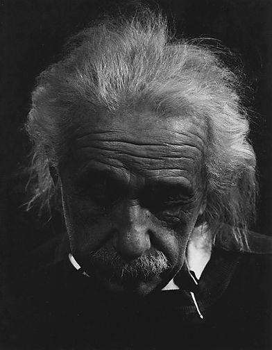 Albert Einstein trist