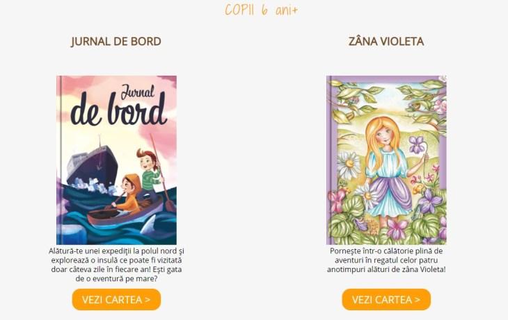 carti copii 6 ani, povesti pentru copii de 6 ani, jurnal de bord, zana violeta