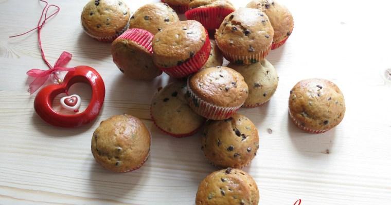 muffin con banane, noci e gocce di cioccolato… e l'emozione del mio primo contest