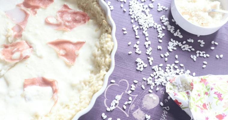 crostata di riso con stracchino e mortadella