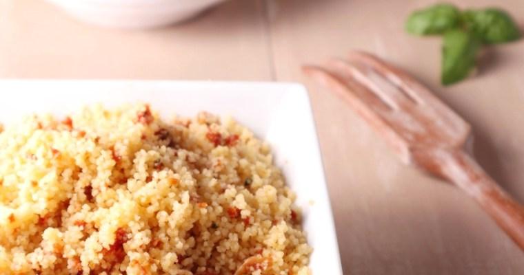 cous cous con pesto di pomodorini secchi