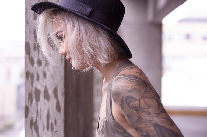 Pretty Tattoo Woman Free Photo