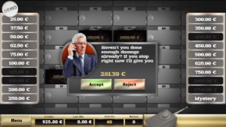 bonus spel Bank Robbers 4S dice game