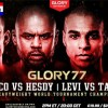 Glory Kickboxing 77 livestream Rico vs Hesdy