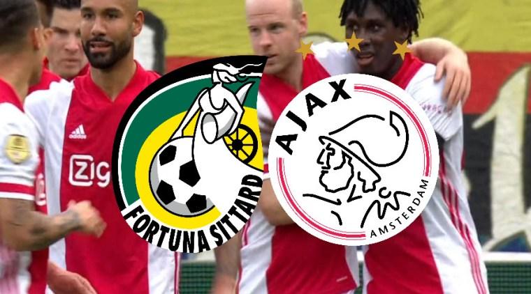 Kijk hier gratis via de livestream Fortuna Sittard - Ajax