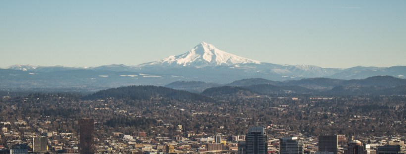 Portland, Oregon and Mount Hood