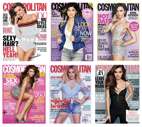 A screenshot of a Google search for 'Cosmopolitan Magazine'