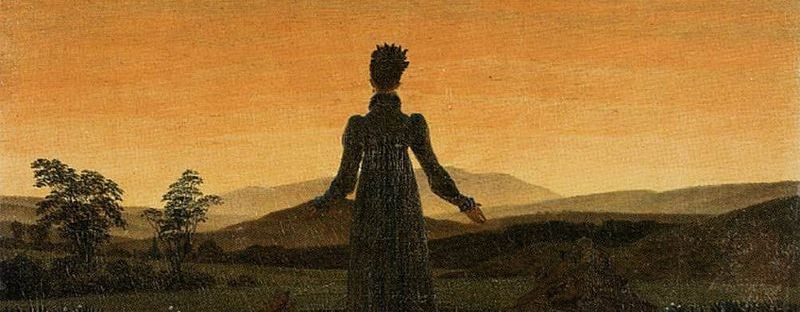 Woman before the Rising Sun by Caspar Friedrich