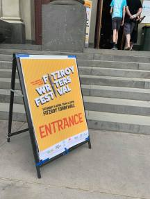 Sign outside the Fitzroy Writers Festival entrance