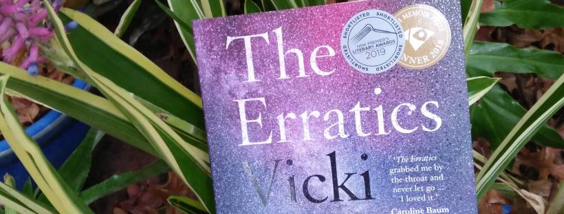 The Erratics by Vicki Laveau-Harvie book sitting in grass