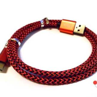 Cablu incarcare transfer date mufa Type C, fir impletitura textila