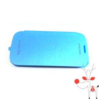 Husa carte flip cover Samsung I9300 Galaxy S3, turcoaz